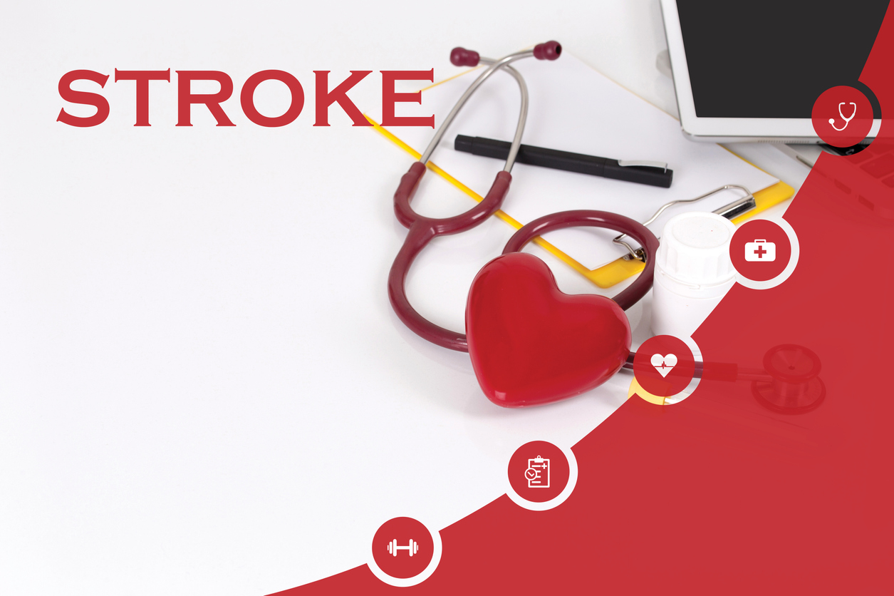 Doctor's desk warning signs of a stroke